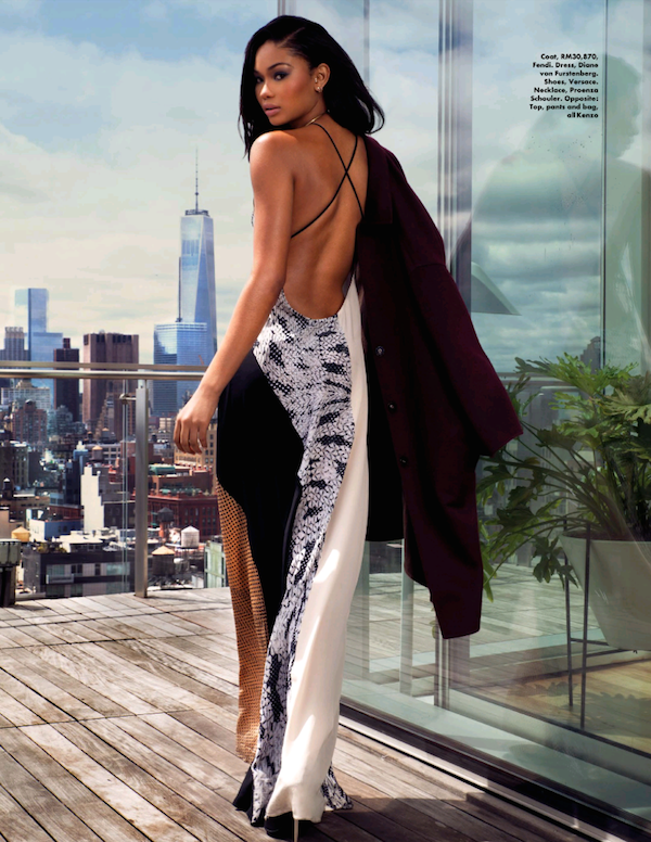 2 Chanel Iman for Elle Malaysia July 2014