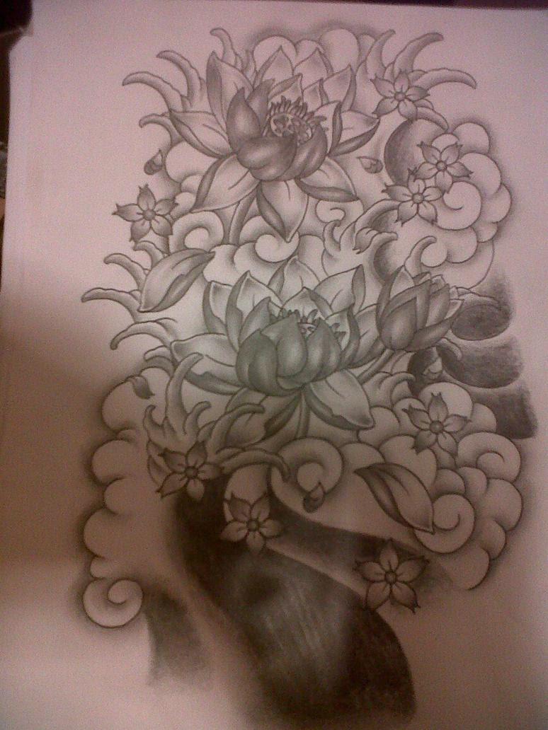 Custom Tatoo Topic Japanese Flower Tattoo Design