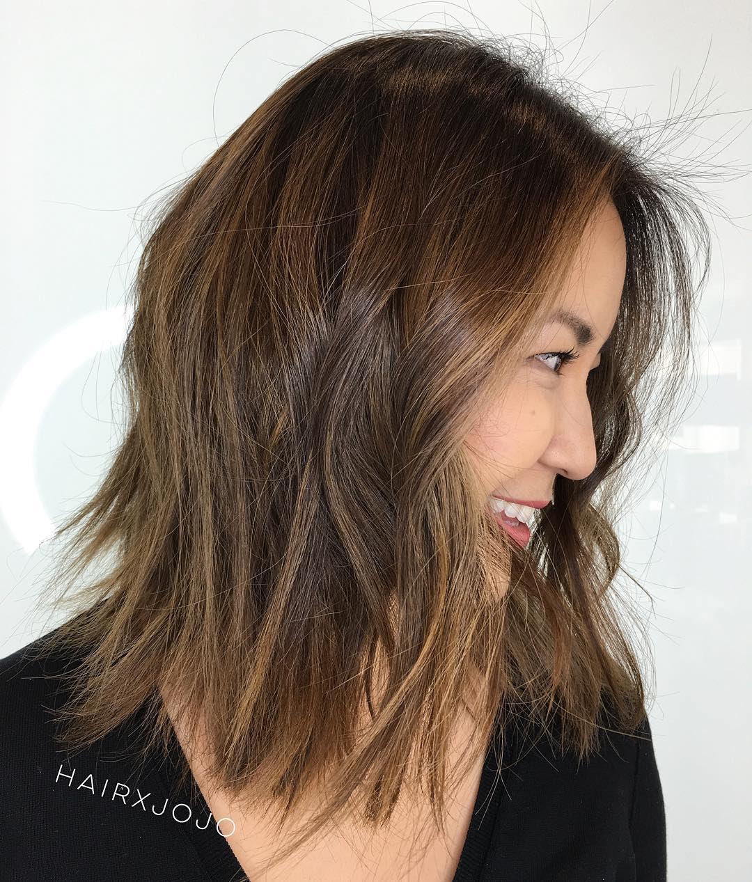 Medium Length Choppy Haircut