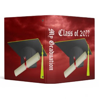Graduation Group Class of 20?? Black Cap Binder binder