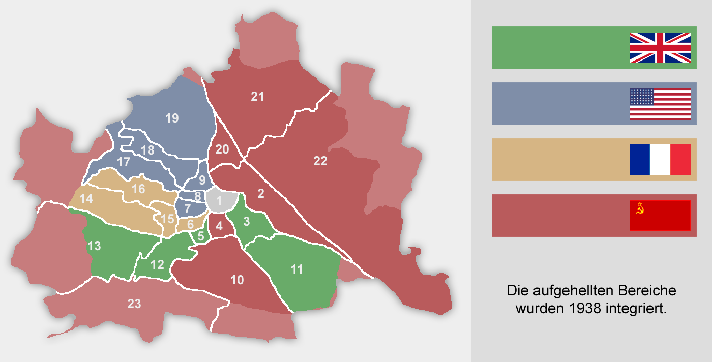 Christoph Lingg: Occupation zones in Vienna 1945-55