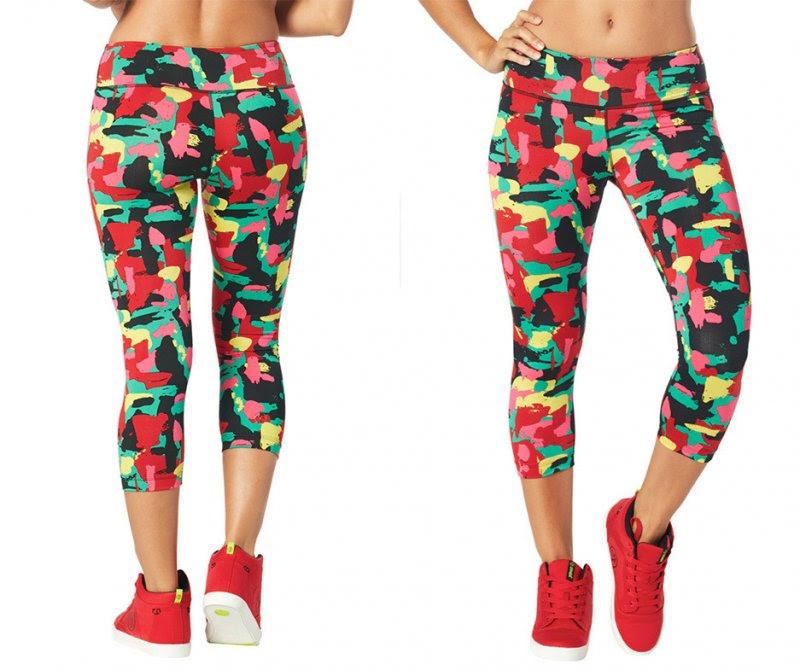 zumba let's jam perfect capri leggings sz xs only  mell