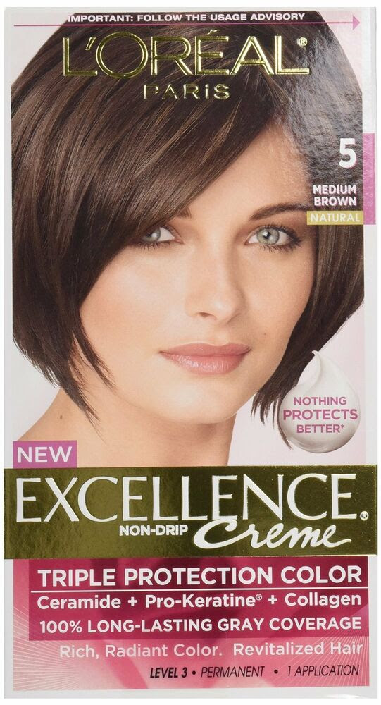 LOreal Excellence 5 Medium Brown Hair Color Pack of 12  eBay