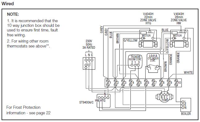 honeywell wiring diagram