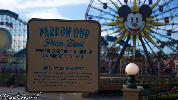 Disneyland Resort, Disney California Adventure, Paradise Pier, Bay, World, Color, Refurbishment, Refurbish, Refurb, Drain