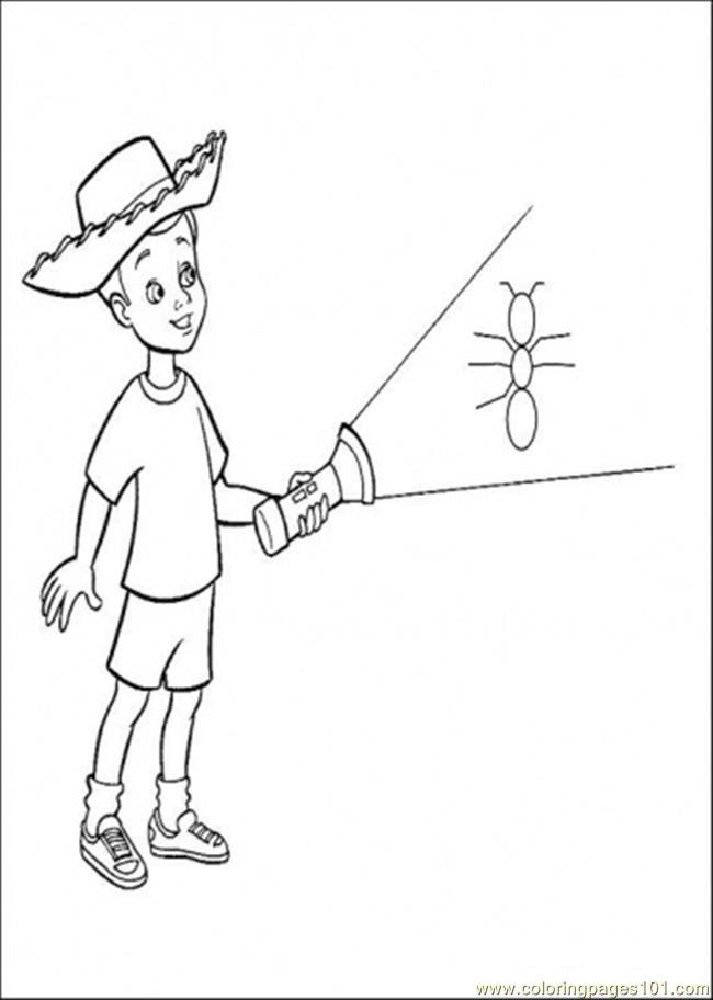 Andy Is Holding A Lamp Coloring Page - Free Toy Story ...