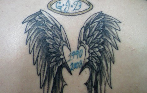 Angel Wings With Halo Tattoos Designs Ideas