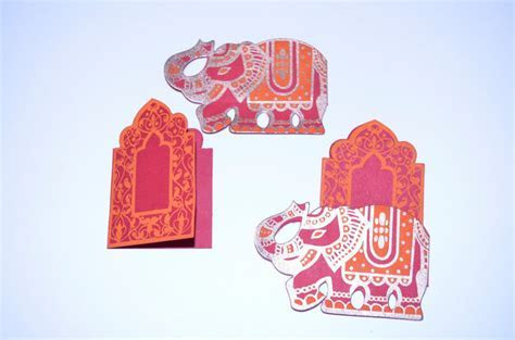 2 Elephant Throne Mini Cards, Place card set, by