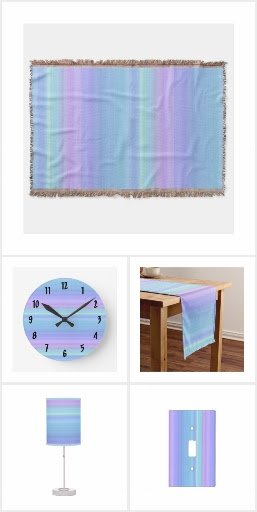 Purple, Blue, Green Pastel Design Home Decor