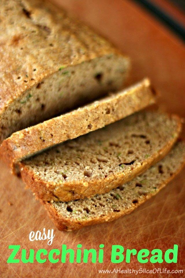 Easy Zucchini Bread | A Healthy Slice of Life