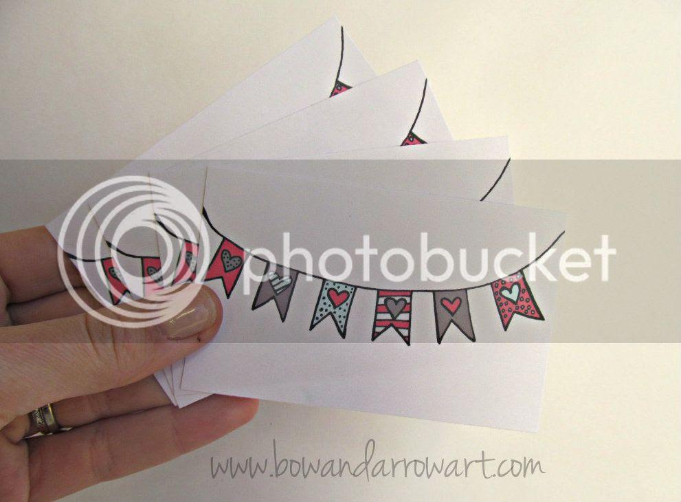 Bow Arrow Art: Banner of Love Mini Valentines
