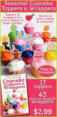 printable cupcake toppers and wrappers