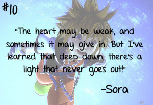 Sora Kingdom Hearts Quotes. QuotesGram