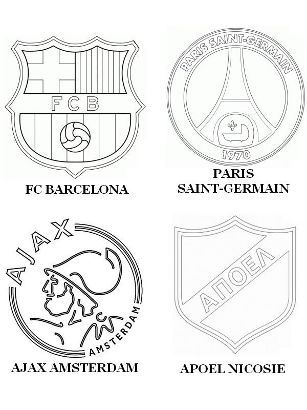 Coloring Page Uefa Champions League 2015 Group F Fc Barcelona