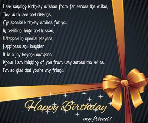 B?day Wishes From Far Across The Miles. Free For Best