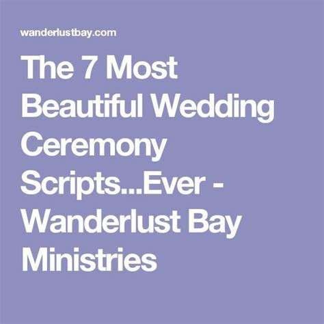 The 7 Most Beautiful Wedding Ceremony Scripts Ever