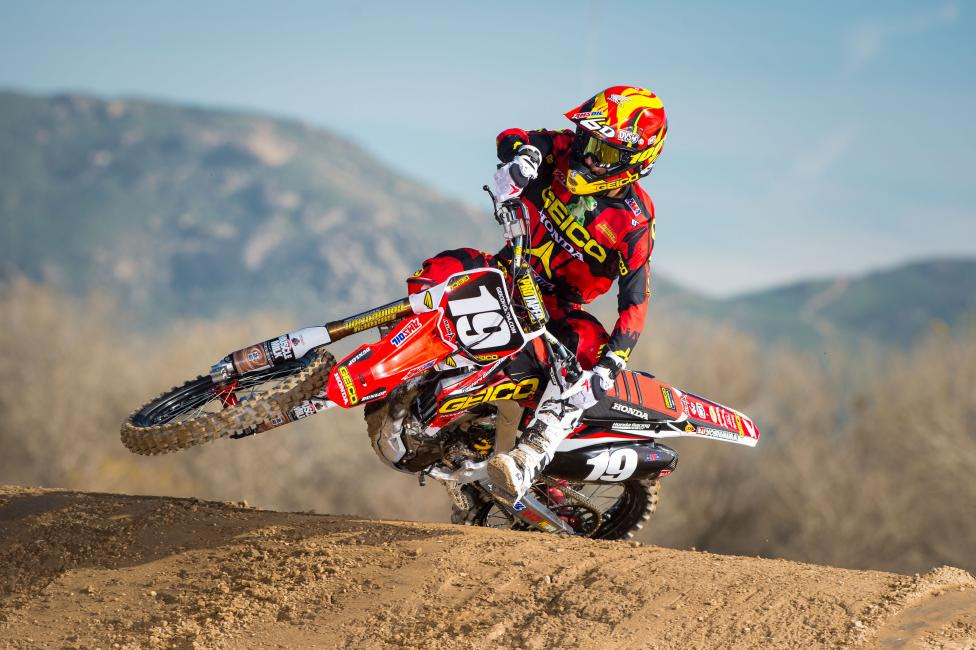 Bogle looks to break through with his best season of 250 Class competition before he moves on to the premier class in 2016.Photo: Courtesy of GEICO Honda