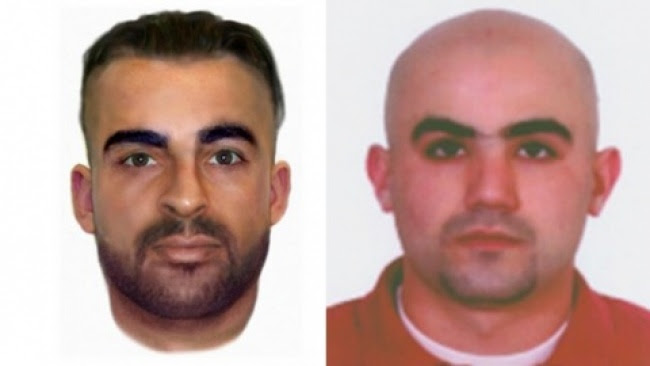 Farah (L) and Hassan's names were previously known to police and international investigators. Photo by Bulgarian Interior Ministry