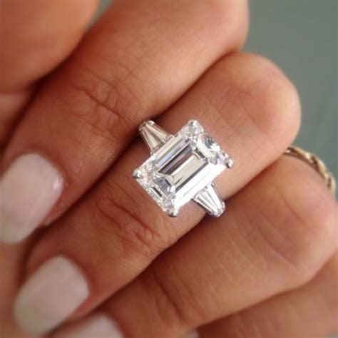 5 Carat Emerald Cut Engagement Ring   Ours   Pinterest