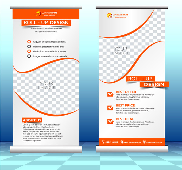 Roll up banner free vector download 10 608 Free vector