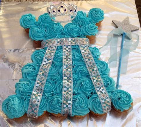 Princess dress cupcake cake   Cupcake Ideas   Pinterest