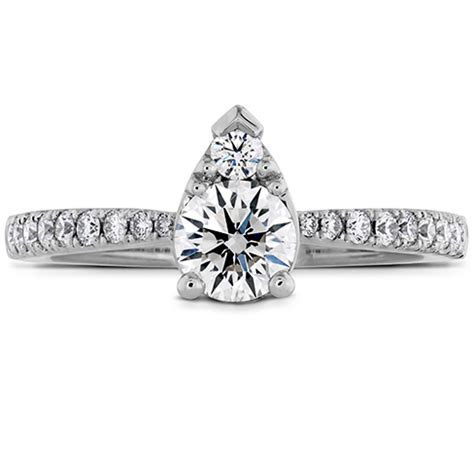 Destiny Teardrop Shape Engagement Ring   Diamond Band