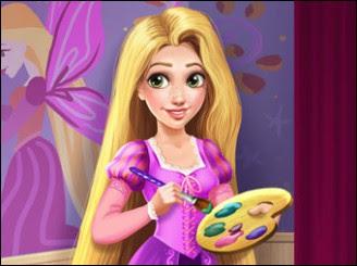 Rapunzel Boyama Bir Oyna Oyun