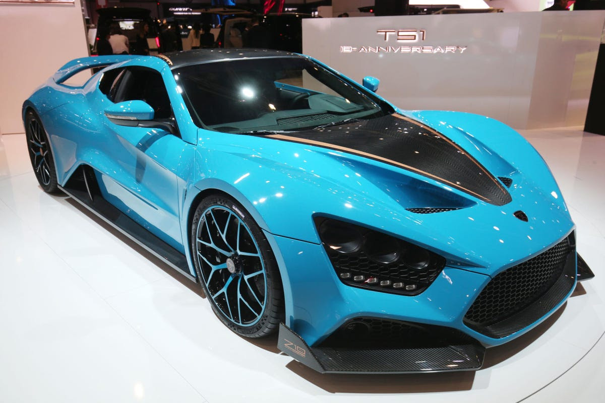 Denmark's Zenvo showed off its TS1 Anniversary supercar.