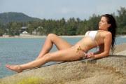 Imogen Thomas Bikini Candids