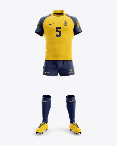 Download Mens Full Rugby Kit HQ Front View Jersey Mockup PSD File ...