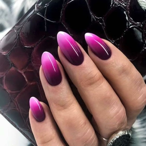 Ombre Nails Black And Pink