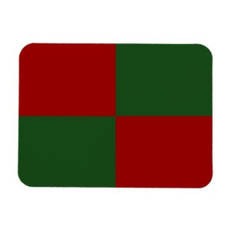Red and Green Rectangles Rectangular Magnet