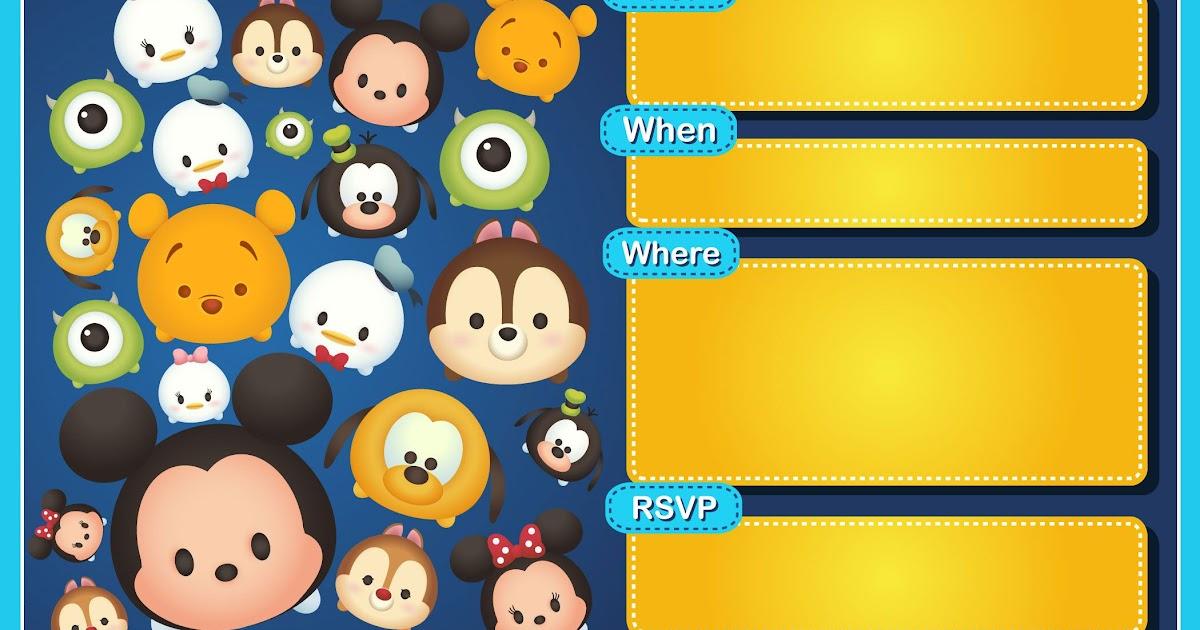 Undangan Tsum Tsum - kartu ucapan souvenir