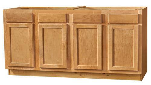 "Kitchen Kompact Mellowood 70"" Maple Sink Base Cabinet at ..."