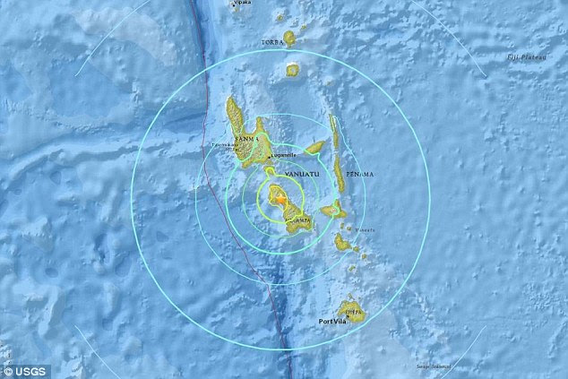 The powerful 7.0 earthquake, which US Geological Survey measured as being 35km in depth, hit near Vanuatu's second-largest island Malekula Island on Friday