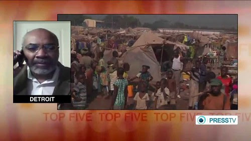 Abayomi Azikiwe, editor of the Pan-African News Wire, speaking over Press TV world news on developments in Africa. Azikiwe is a frequent guest on satellite television. by Pan-African News Wire File Photos