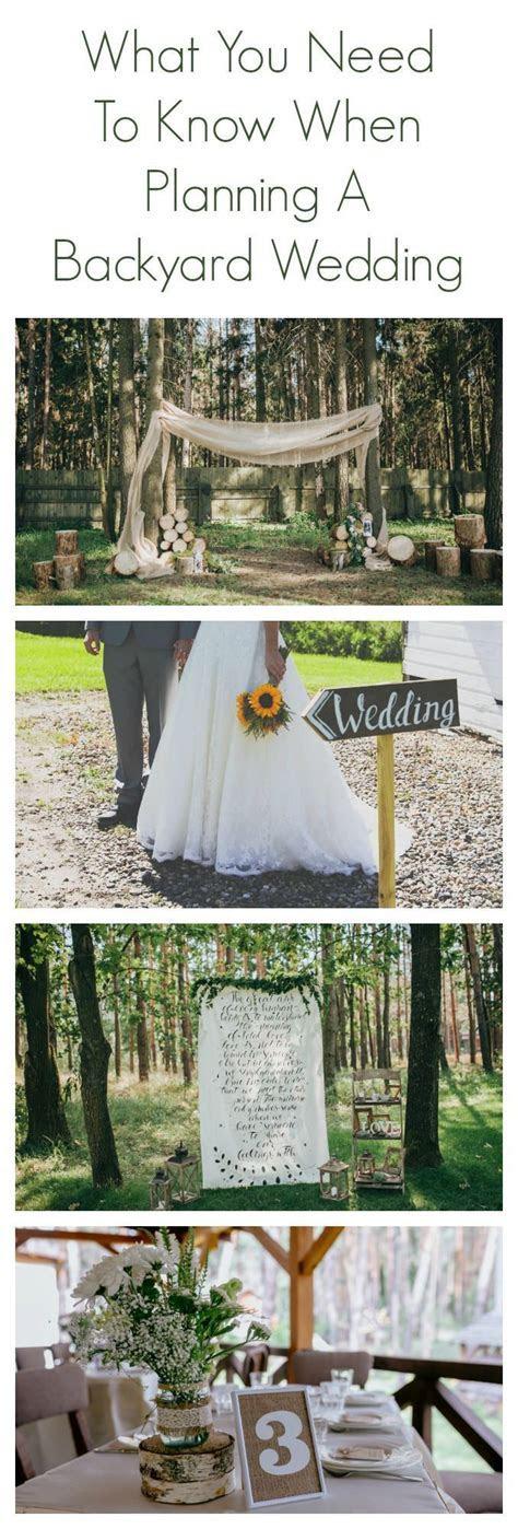 25  best ideas about Backyard wedding receptions on