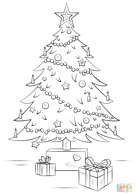 Realistic Christmas Tree Drawing at GetDrawings | Free ...
