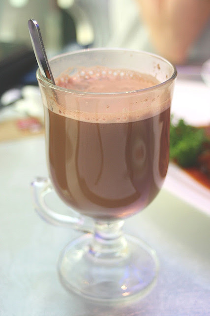 "Chocolate Orange ""Choctail"" - hot chocolate spiked with Cointreau"