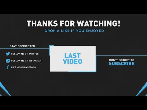 BEST OUTRO TEMPLATE 2015   Custom Colors! (PSD) - YouTube