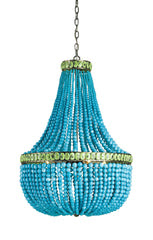 turquoise blue chandelier horchow