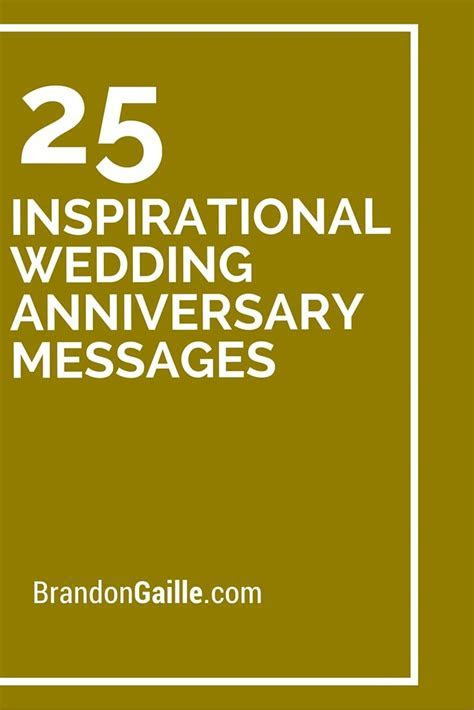27 Inspirational Wedding Anniversary Messages   Card