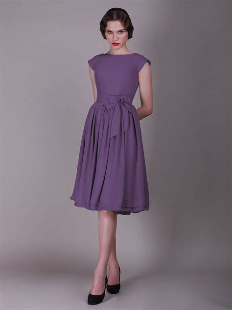 For Her and For Him vintage style bridesmaid dress