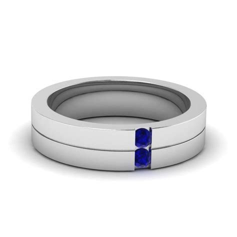 15 Best Collection of Men's Blue Sapphire Wedding Bands