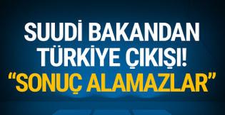 Suudi bakandan Türkiye çıkışı: 'Sonuç alamazlar!'