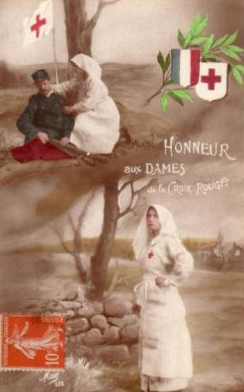 Postcard celebrating the role of the Red Cross in the Great War