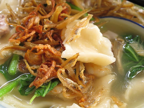 Mee Hoon Kueh (Hand-pulled noodles) 麵粉粿