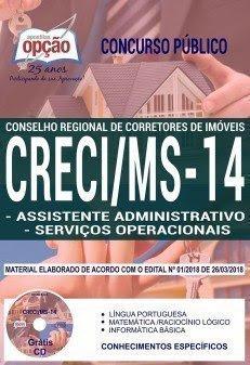 Apostila Concurso CRECI MS 14ª REGIÃO 2018 | ASSISTENTE ADMINISTRATIVO E SERVIÇOS OPERACIONAIS