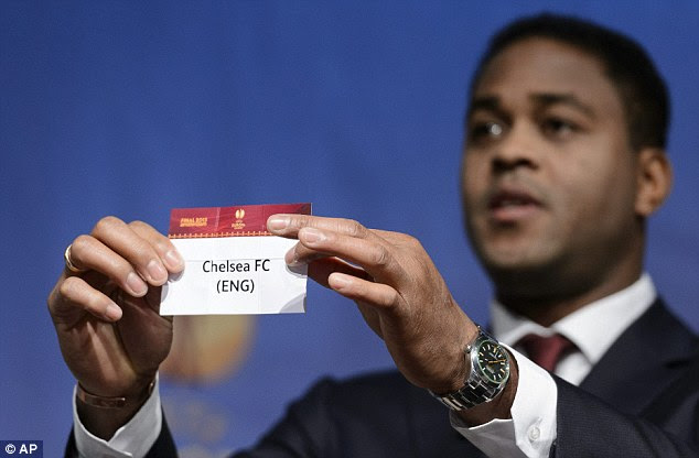 Dutch of class: Patrick Kluivert pulls out Chelsea during the Europa League draw