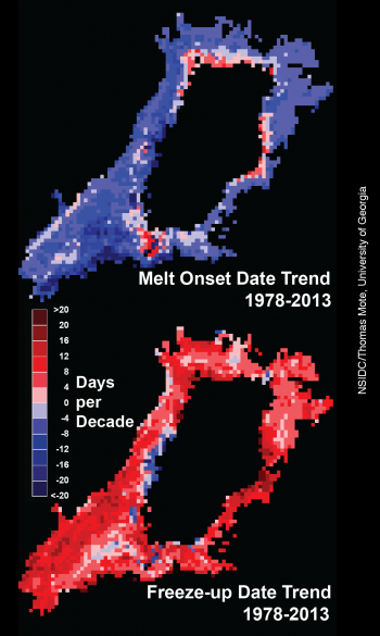 plot of melt extent